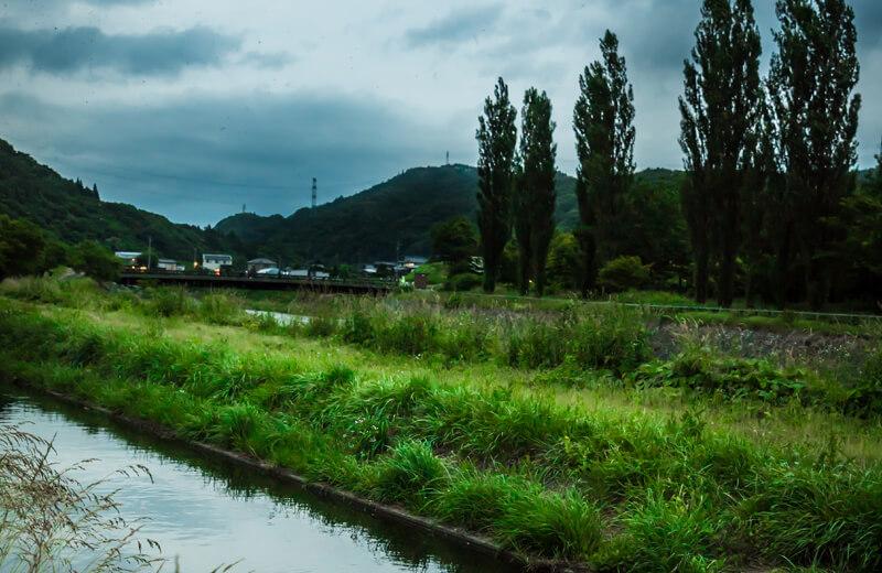 下辰野側・天竜川沿